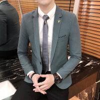 秋冬季新款 男士西服修身韩版色休闲小西装男 潮外套便西男gd