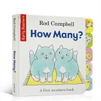 【全店300减100】英文原版 How Many? 句型简单重复 Dear Zoo同作家Rod Campbell 低幼儿