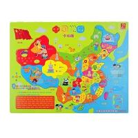 中国世界地图儿童木制拼图男女孩早教益智拼板玩具