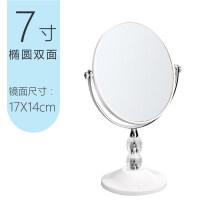 化妆镜台式公主镜简约大号欧式公主镜双面镜高清放大镜子书桌宿舍梳妆镜台式化妆镜