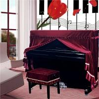 钢琴罩全罩布艺高档琴套防尘凳罩欧式简约