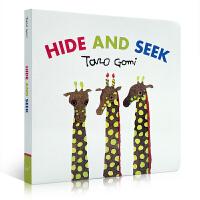 Hide and Seek 捉迷藏 五味太郎创意绘本 英文原版幼儿启蒙认知 趣味读物 Taro Gomi  纸板书