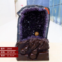 紫水晶洞天然水晶风水摆件聚宝盆紫晶洞水晶洞原石天然招财晶洞