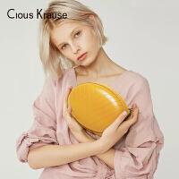 【1件3折,到手价:71.4元】Clous Krause2019新款CK女包洋气小包夏季迷你小香包百搭斜跨包风菱链条包