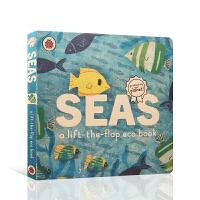 【全店300减100】英文原版进口翻翻书 海水 Seas: A lift-the-flap eco book 低幼启蒙探
