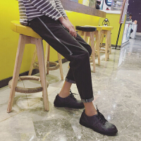 个性紧身黑色裤子牛仔裤男韩版潮流2018修身小脚裤春季林弯弯新款
