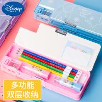 迪士尼学霸文具盒多功能大容量少女心女生中小学生用网红铅笔收纳盒简约创意可爱文具用品幼儿园儿童塑料笔盒