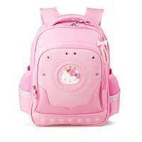 Hello Kitty凯蒂猫 KT1119粉红女小学生护脊减负书包彩盒装 当当自营