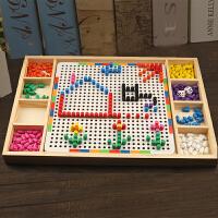 幼儿园宝宝拼图拼插蘑菇钉玩具儿童木制创意组合积木3-7岁
