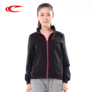 赛琪女装运动外套2017秋季新款运动服立领针织上衣运动卫衣176040