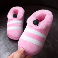 儿童棉拖鞋女可爱冬天保暖宝宝棉鞋包跟男童1-3岁婴幼儿防滑软底
