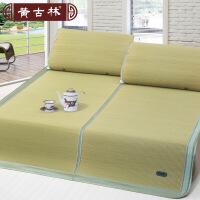 黄古林新款海绵草席1.8m床折叠三件套1.5米双人床席子1.2加厚夏季凉席