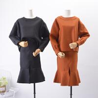 2018C0【1.3斤】FSLL28冬季新品呢子上衣呢子半身裙套装