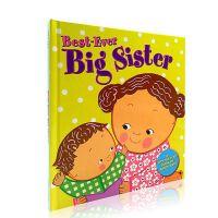 英文原版绘本 Best-Ever Big Sister 好姐姐 Karen Katz 启蒙翻翻书二胎儿童学习英语辅导训
