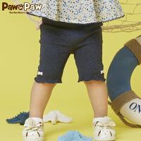 【3件3折 到手价:77】Pawinpaw卡通小熊童装夏季女宝宝纯色五分裤