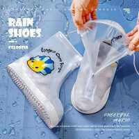 �和�雨靴套防水套防滑男童女童小�W生加厚耐磨鞋套透明�p便雨鞋套