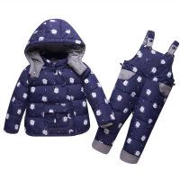 宝宝羽绒服套装女0-1岁婴儿冬装2韩版潮3周岁半男童加厚小童衣服4