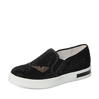 Teenmix/天美意春专柜同款绒布/牛皮女鞋AM431AM6女乐福鞋