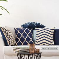 新中式花纹靠垫抱枕美式风格抱枕 办公室靠背枕
