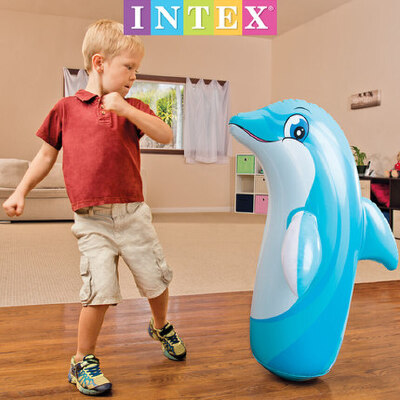 INTEX充气不倒翁儿童拳击沙袋加厚大益智小孩不到翁宝宝玩具1-3岁