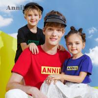 【300-200】安奈儿童装男童女童T恤夏亲子装新款潮母女装洋气一家三口薄
