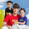 安奈儿童装男童女童T恤夏亲子装新款潮母女装洋气一家三口薄