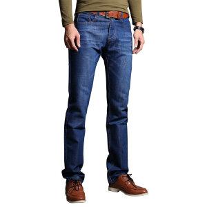 1号牛仔 春季男士休闲裤男青年直筒宽松长裤男装韩版春款修身牛仔裤潮