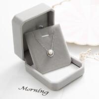 ?天然珍珠项链s925纯银气质简约锁骨链日韩时尚颈链短款 《圆圈珍珠项链》