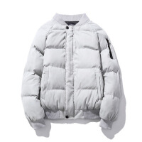 冬季男装棉衣韩版修身棒球领保暖棉袄加肥加大码加厚男外套潮