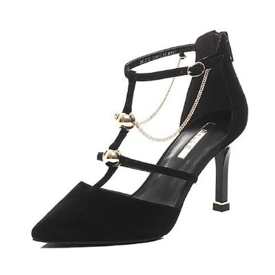Belle/百丽2017春专柜同款时尚优雅羊绒皮女皮凉鞋BLZ32AK7
