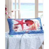 【年度钜惠 限时秒杀】富安娜家纺 海洋图案印花腰枕套方抱套28*50cm一个