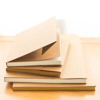 复古简约牛皮纸笔记本空白本日记记事本学生用草稿本简约本子文具
