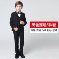 儿童西服套装男童小西装花童礼服三件套男孩钢琴演出服秋2018新款