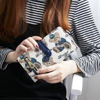 女长款学生小清新女士可爱小钱包手拿包手机包