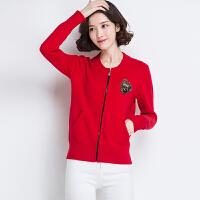 新款薄款针织衫女开衫长袖V领外搭短款毛衣小披肩外套