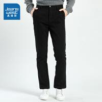 [满减参考价:111.9元,满减最高可减200元,仅限12.7-8]真维斯男装 冬装新款 时尚弹力摇粒绒贴合布休闲长裤