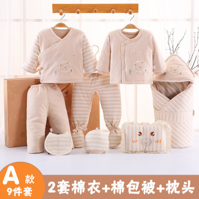 婴儿衣服礼盒套装*初生宝宝满月回礼新生儿棉衣秋冬季棉衣 发货周期:一般在付款后2-90天左右发货,具体发货时间请以与客服协商的时间为准