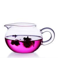 耐热玻璃茶具 苹果茶海圆形公道杯 玻璃公道杯茶道功夫茶具260ml