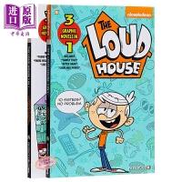 【中商原版】吵吵家族1-2 The Loud House 3 in 1 2册 儿童幽默搞笑冒险漫画合集套装 英文漫画 平