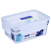 Glasslock 三光云彩钢化耐热玻璃保鲜饭盒单品便当盒烤箱用饭菜盒收纳盒1780mlORRT-178