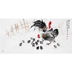 冯云龙《瞧这一家子》著名画家 有作者本人授权 带收藏证书