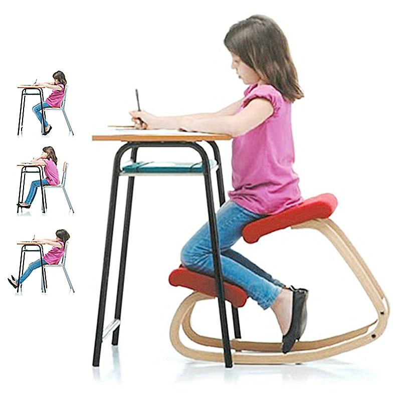 幽咸家居 防近视椅子 防驼背椅子 实木腿坐姿脊柱矫正椅 骑马椅 儿童学习椅 跪姿椅 防近视跪椅子