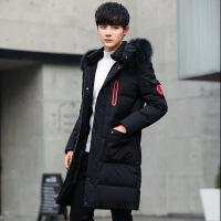 棉衣男青少年男士外套2018秋冬季新款修身潮男装中长款羽绒袄