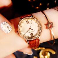 女士手表女学生韩版简约时尚潮流石英手表