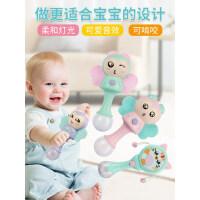 婴幼儿手握玩具牙胶手摇铃音乐棒3-6-8个月宝宝0-1岁拨浪鼓早教