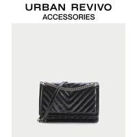 URBAN REVIVO2020冬季新品女士配件链条单肩小方包AY46BB2N2000