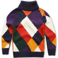 童装男童毛衣高领儿童针织衫线衣秋冬款男孩
