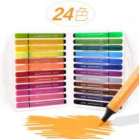 粗杆水彩笔24色水彩画笔儿童绘画36色可水洗水彩笔套装幼儿园大容量绘画套装彩笔彩色笔套装初学者手