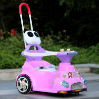 儿童电动车四轮宝宝电动摩托滑行车可变摇摇车带手推杆婴儿小汽车小孩玩具童车遥控车可坐人