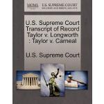 【预订】U.S. Supreme Court Transcript of Record Taylor V. Longw